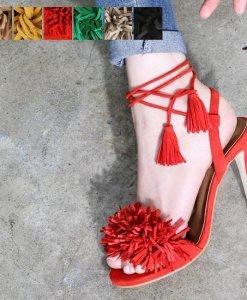 suede tassel sandal