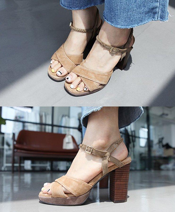 Strap Sandals 7~10cm Kink Wooden Heel CdEWQxerBo